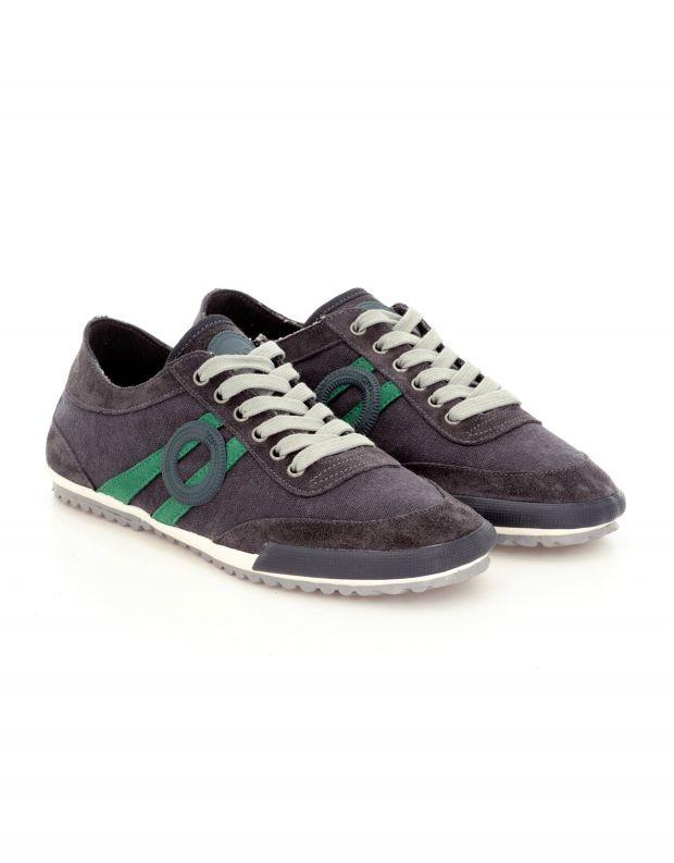נעלי גברים - Aro - סניקרס בד IDO - אפור