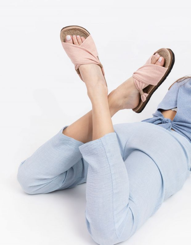 נעלי נשים - Komodo - כפכפי בד HELENA - ורוד בהיר