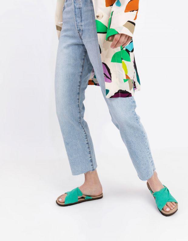 נעלי נשים - Komodo - כפכפי בד HELENA - מנטה
