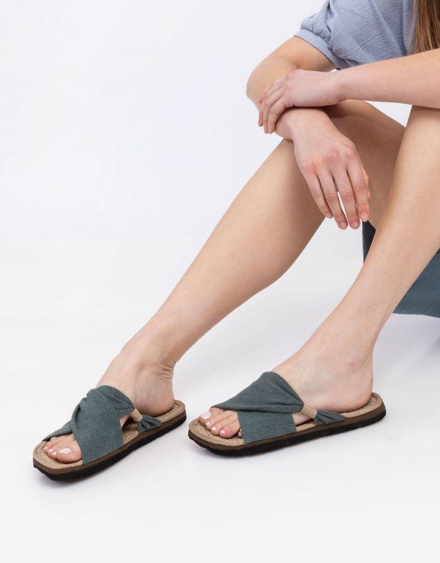 נעלי נשים - Komodo - כפכפי בד HELENA - ירוק