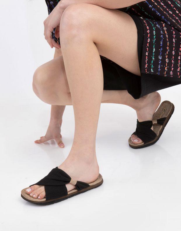נעלי נשים - Komodo - כפכפי בד HELENA - שחור