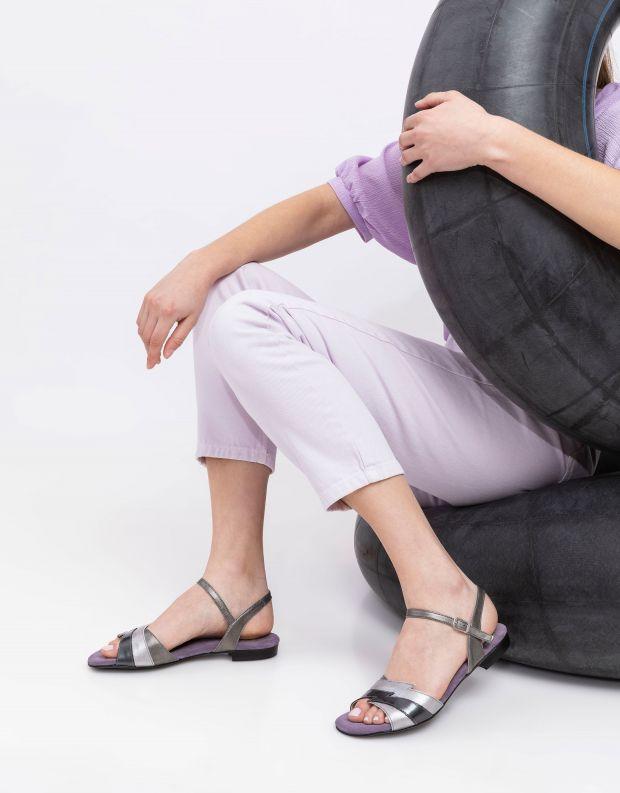 נעלי נשים - Shoemaker - סנדל TWIGGY - כסף