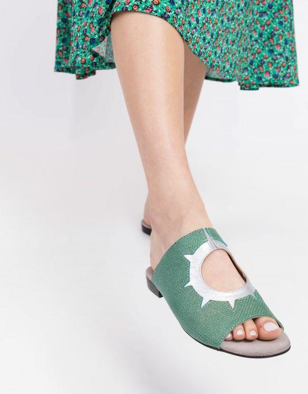 נעלי נשים - Shoemaker - כפכפים שטוחים INKA - ירוק