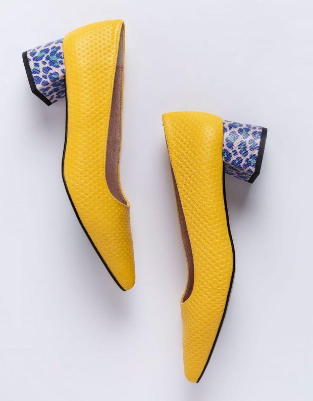 נעלי נשים - Shoemaker - נעלי סירה MIAMI - צהוב
