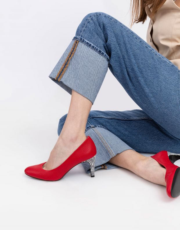 נעלי נשים - Shoemaker - נעלי סירה NEW YORK - אדום