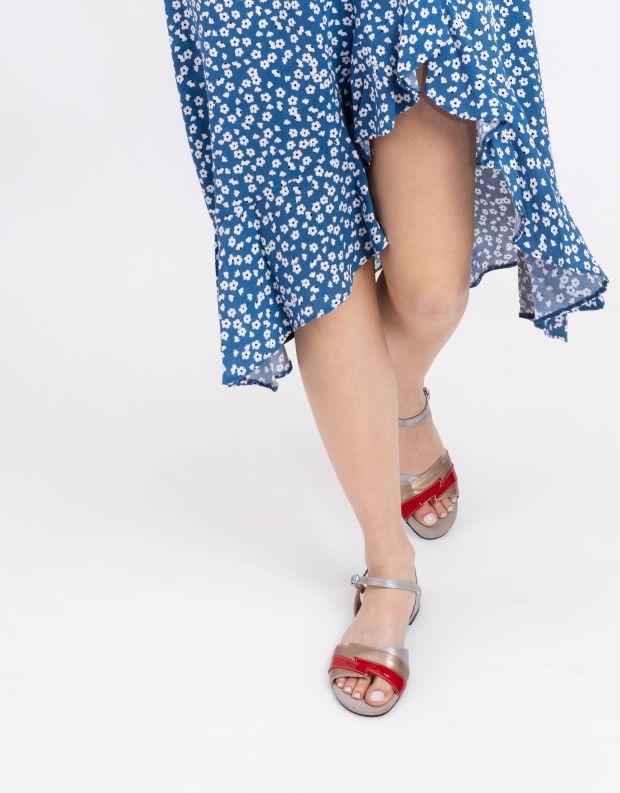נעלי נשים - Shoemaker - סנדל TWIGGY - זהב   אדום