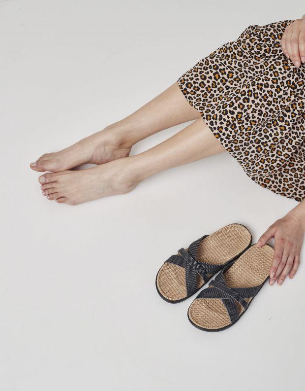 נעלי נשים - Lovelies - כפכפי רצועות מבד WELIGAMA - שחור