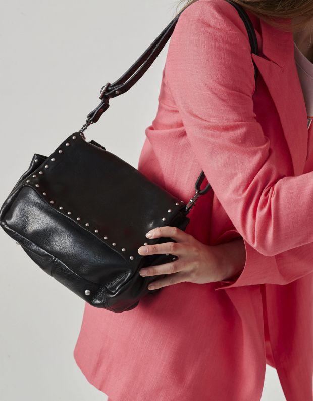 נעלי נשים - A.S. 98 - תיק צד קטן מעטפה עם ניטים - שחור