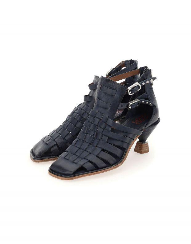 נעלי נשים - A.S. 98 - סנדלי עקב קלועים HEAR - כחול