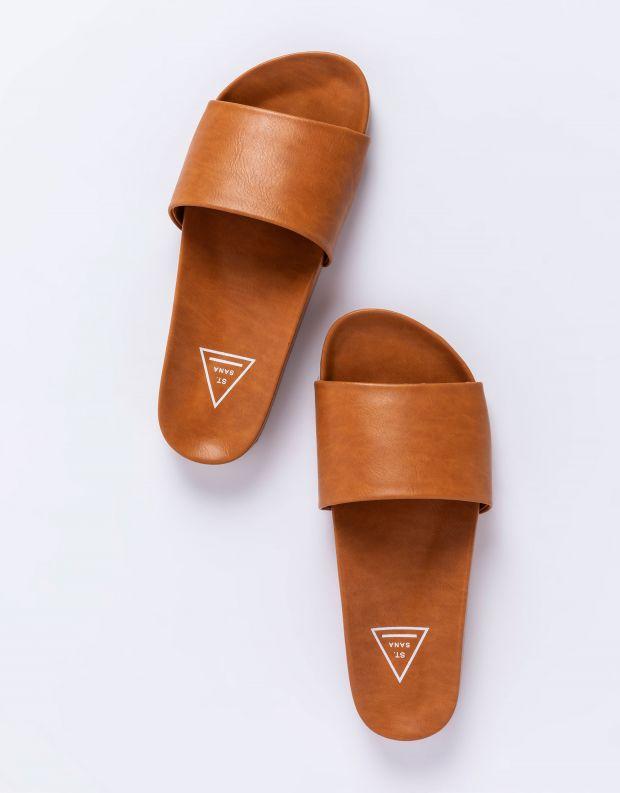 נעלי נשים - SOL SANA - כפכפים שטוחים FLO - טאן