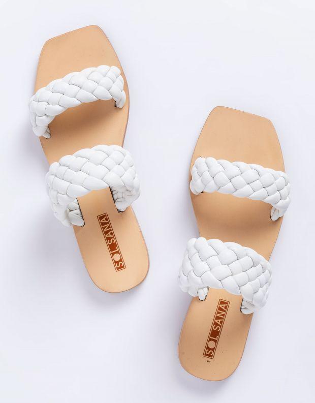 נעלי נשים - SOL SANA - כפכפים שטוחים LYRIC - לבן