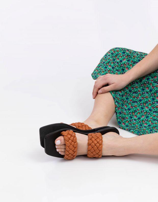 נעלי נשים - SOL SANA - כפכפים שטוחים LYRIC - חום   שחור