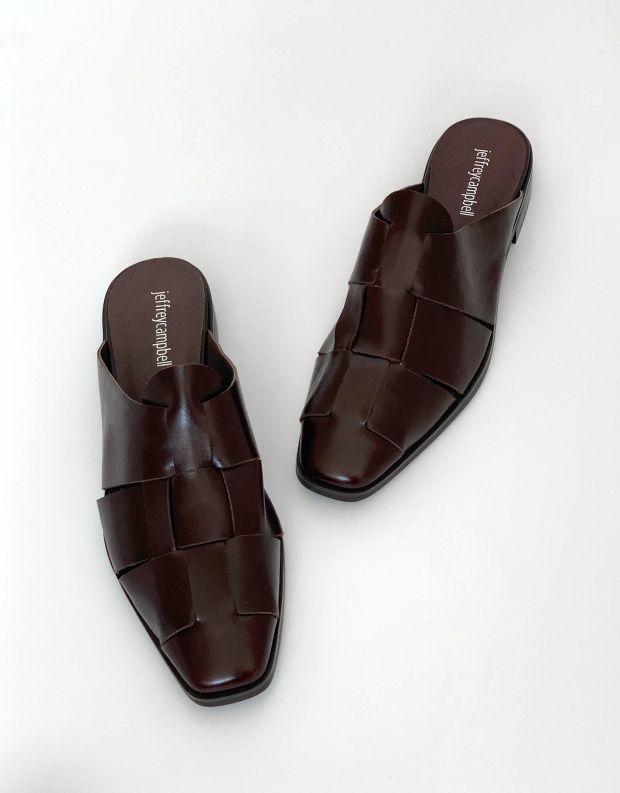 נעלי נשים - Jeffrey Campbell - כפכפי מיולז מעור EASTIN - חום