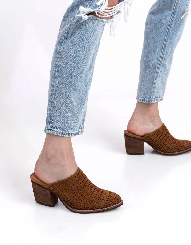 נעלי נשים - Jeffrey Campbell - קבקב FAVELA - טאן