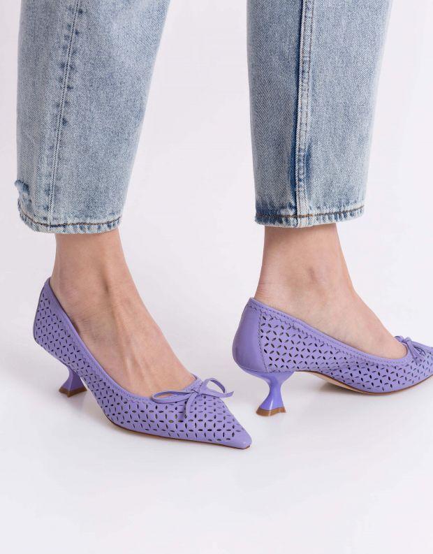 נעלי נשים - Jeffrey Campbell - סירה FAYRE - סגול
