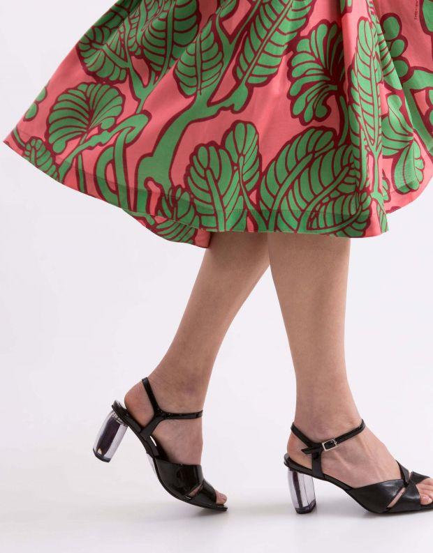 נעלי נשים - Jeffrey Campbell - סנדלי ANTIQUE עקב שקוף - שחור