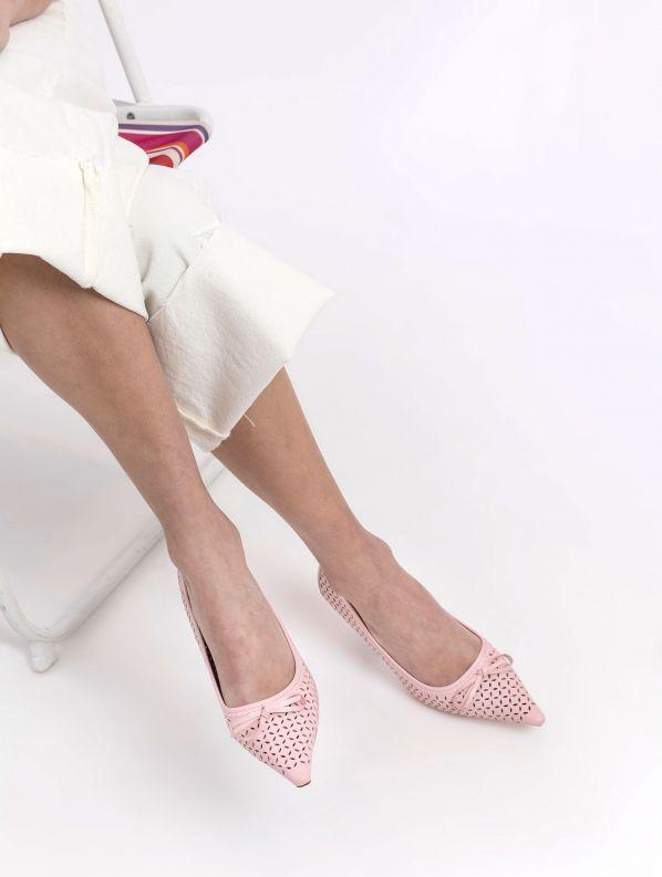 נעלי נשים - Jeffrey Campbell - סירה FAYRE - ורוד
