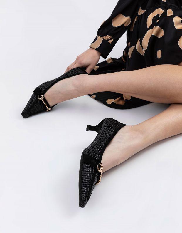 נעלי נשים - Jeffrey Campbell - נעלי סירה קלועות HYSTERIC - שחור