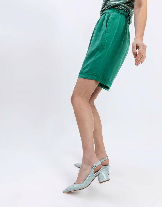 נעלי נשים - Jeffrey Campbell - נעלי סירה עם עקב  HALLIE - תכלת