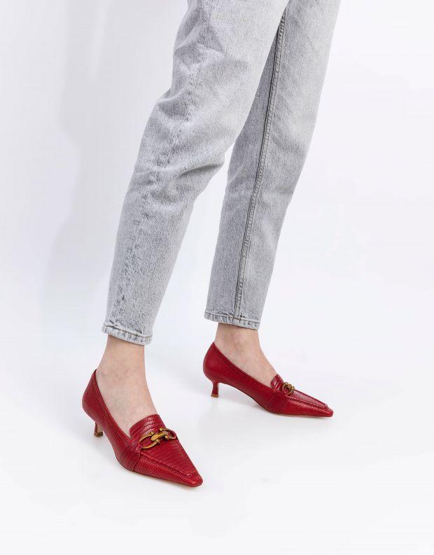 נעלי נשים - Jeffrey Campbell - נעלי סירה HYSTERIC - אדום