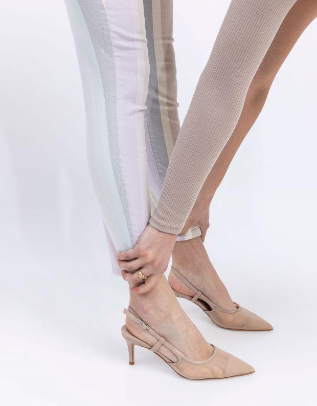 נעלי נשים - Jeffrey Campbell - נעלי סירה מבד רשת MAERA - ניוד