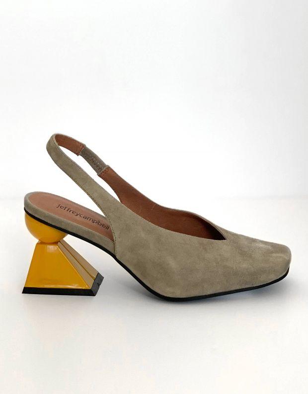 נעלי נשים - Jeffrey Campbell - סירה VITTI - אפור   צהוב