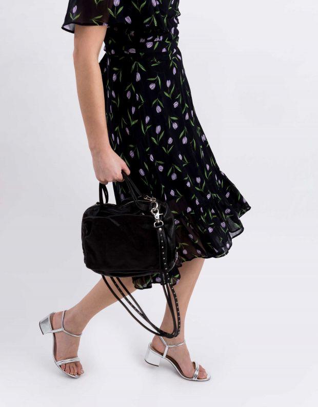 נעלי נשים - A.S. 98 - תיק צד קטן רצועות דקות - שחור