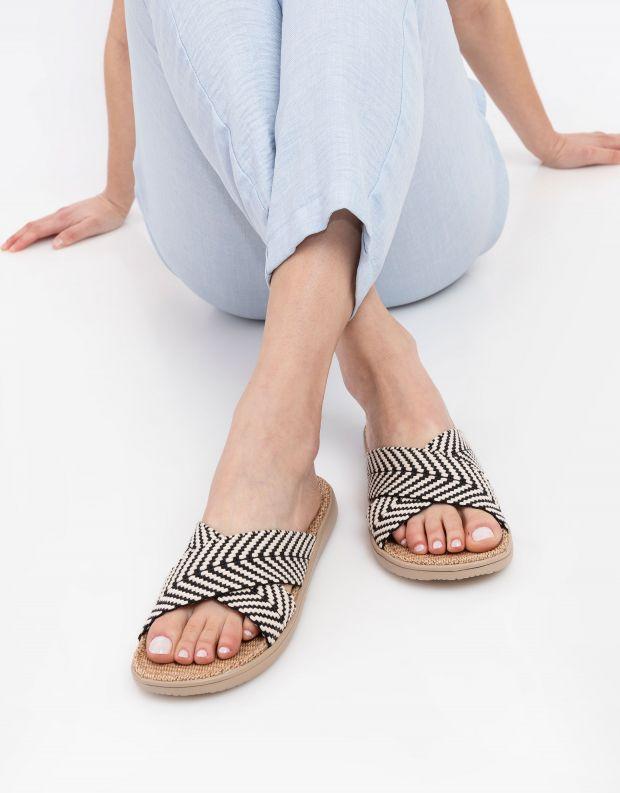 נעלי נשים - Lovelies - כפכפי איקס מבד MOLONA - שחור