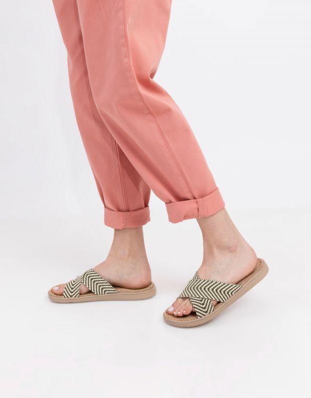 נעלי נשים - Lovelies - כפכפי איקס מבד MOLONA - ירוק