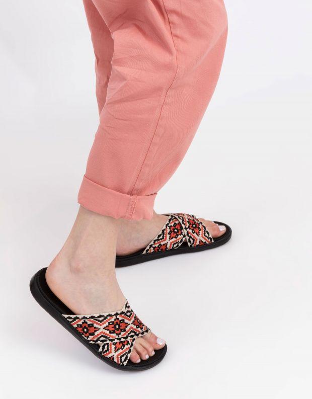 נעלי נשים - Lovelies - כפכפים בסגנון בוהו IBOIH - שחור אדום