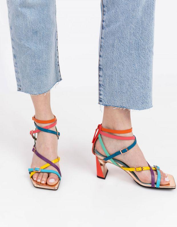 נעלי נשים - United Nude - סנדלי רצועות  MOLTEN - צבעוני