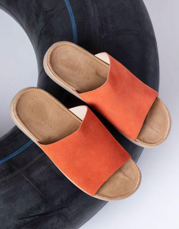 נעלי נשים - Lovelies - כפכפי זמש SALECCIA - כתום