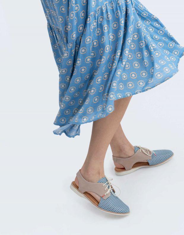 נעלי נשים - Rollie - נעלי עור SLINGBACK PUNCH - תכלת