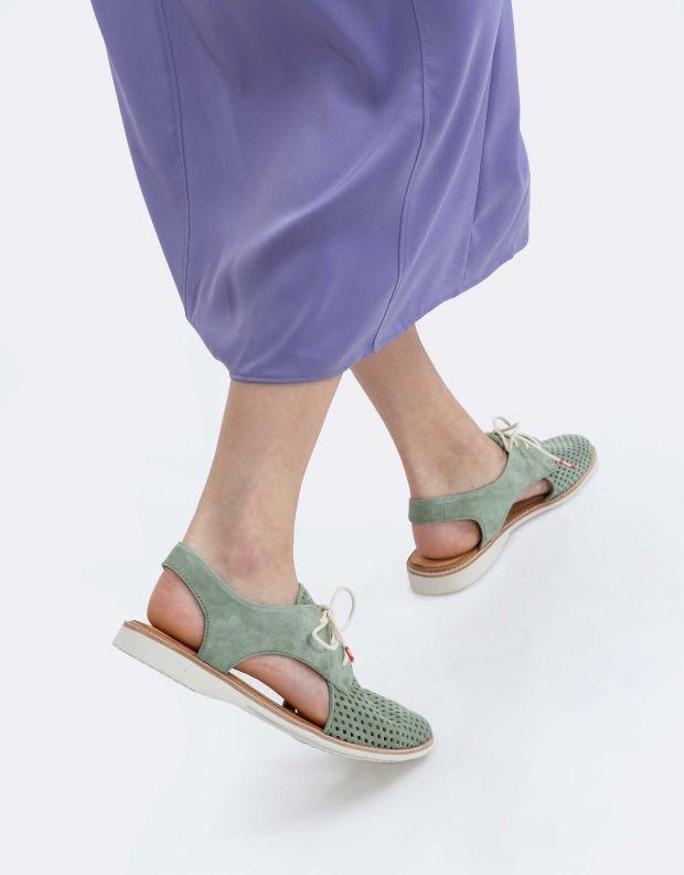 נעלי נשים - Rollie - נעל SLINGBACK PUNCH - מנטה