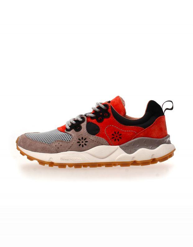 נעלי גברים - Flower Mountain - סניקרס רשת YAMANO 2 - אפור   כתום