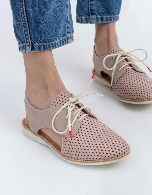 נעלי נשים - Rollie - נעלי עור SLINGBACK PUNCH - ורוד
