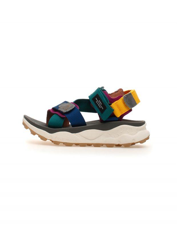 נעלי נשים - Flower Mountain - סנדלי רצועות סקוטש NAZCA - ירוק   כחול