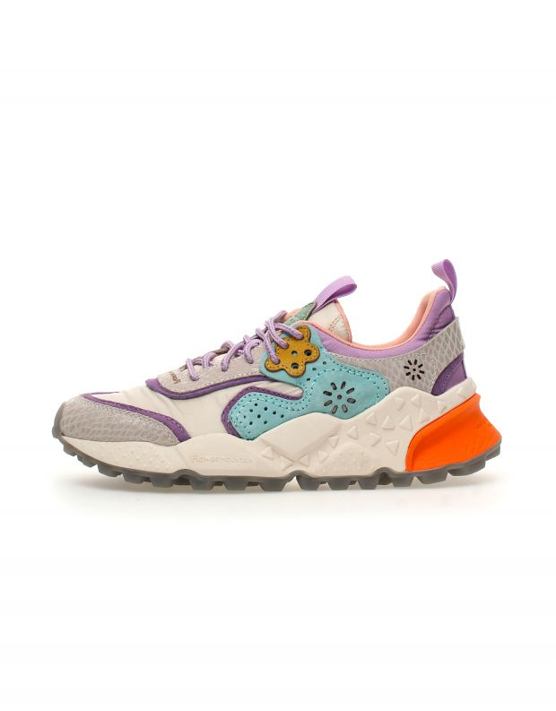 נעלי נשים - Flower Mountain - סניקרס KOTETSU - לבן   סגול