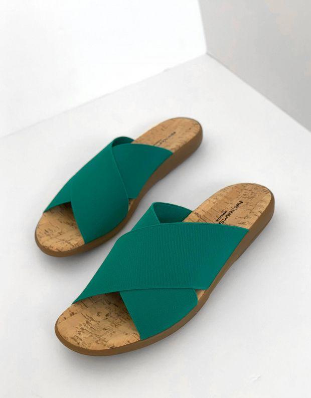 נעלי נשים - NR Rapisardi - כפכפי איקס שטוחים CROS - טורקיז