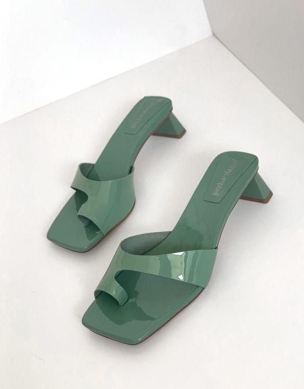 נעלי נשים - Jeffrey Campbell - כפכפי אצבע TECLADO - ירוק