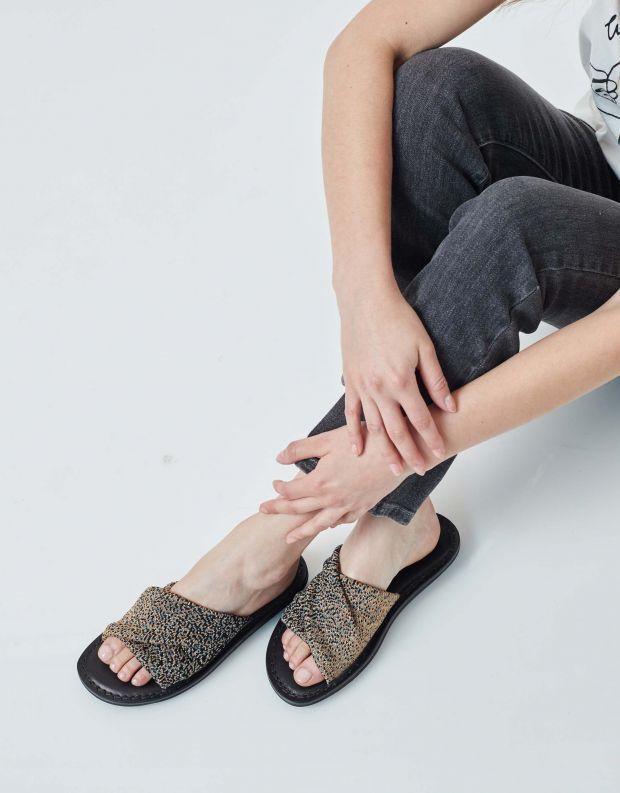 נעלי נשים - Trippen - כפכפים TURBAN CLOSED - שחור   זהב