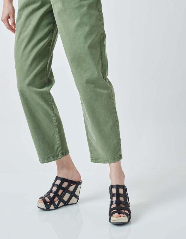 נעלי נשים - Trippen - כפכפי עץ DUNGEON WOOD - שחור