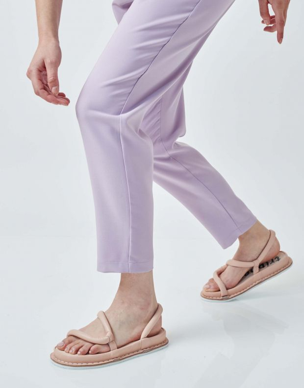 נעלי נשים - Trippen - סנדלי עור ZIGZAG FLIPFLOP - ורוד