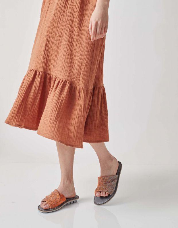 נעלי נשים - Trippen - כפכפים TURBAN CLOSED - אפור   כתום