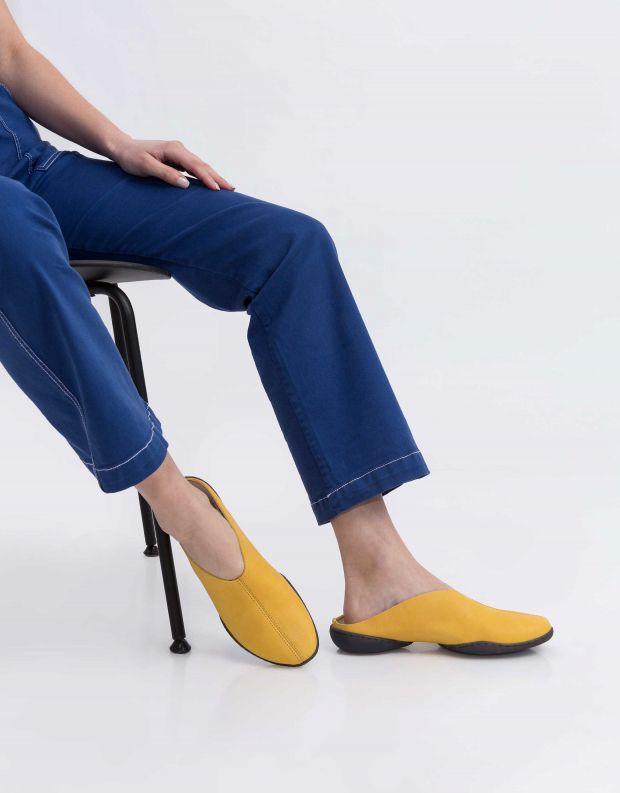 נעלי נשים - Trippen - כפכפי עור SPOON CUP - צהוב