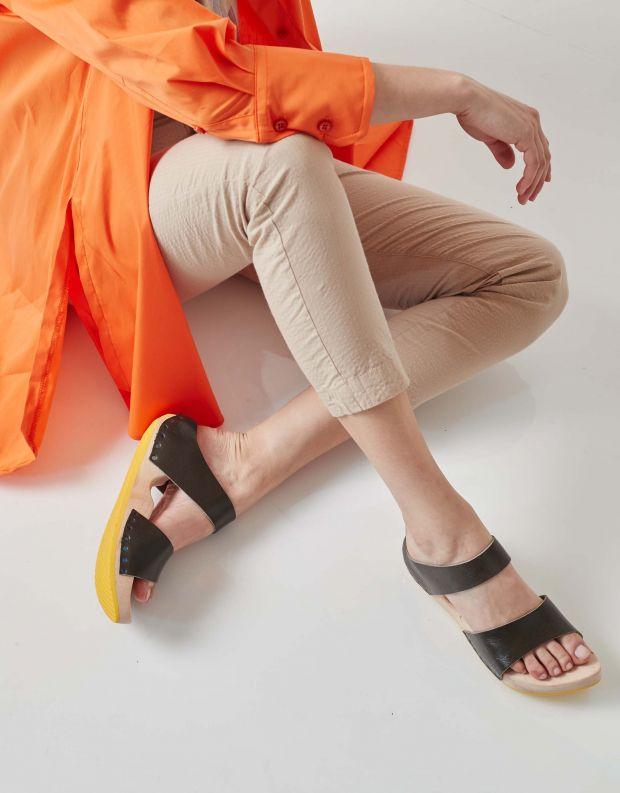 נעלי נשים - Trippen - כפכפי עץ BAD - זית