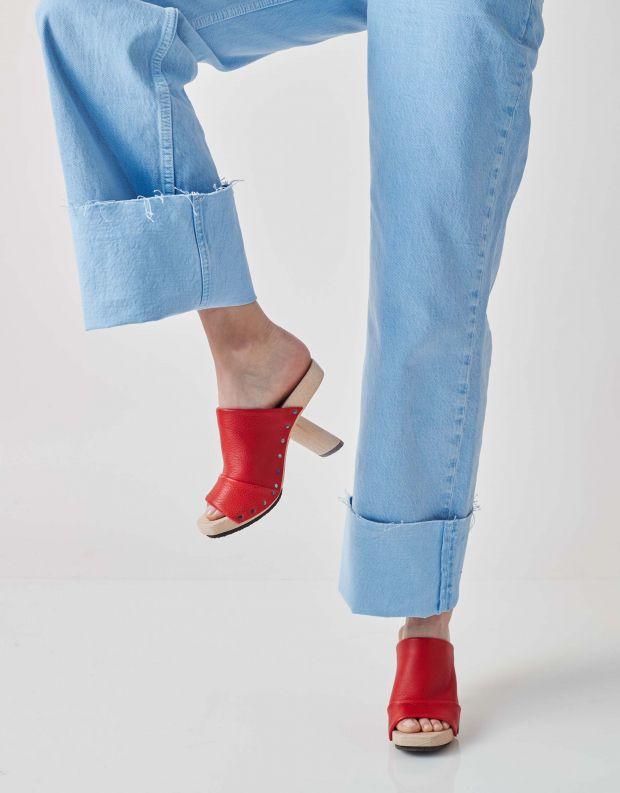 נעלי נשים - Trippen - כפכפי עקב CLAIM WOOD - אדום