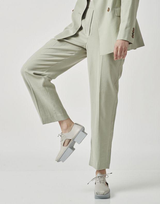 נעלי נשים - Trippen - נעלי עור LUI BOX - אפור בהיר