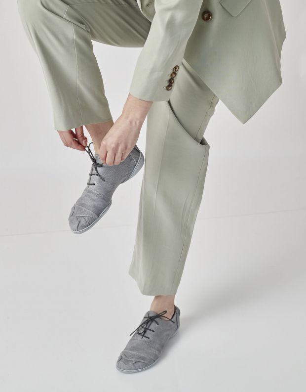 נעלי נשים - Trippen - נעלי עור BRUISE CUP - אפור
