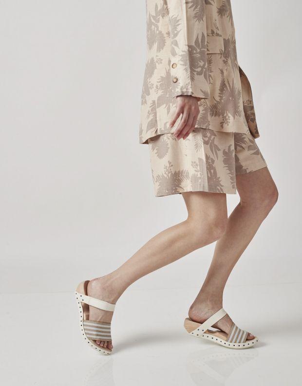 נעלי נשים - Trippen - כפכפי עץ SPIAGGIA WOOD - אופוויט